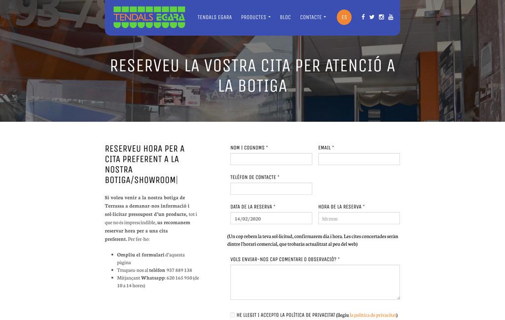 Nou servei de reserva de cita per a la botiga